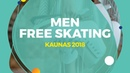 Yuto Kishina JPN Men Free Skating Kaunas 2018