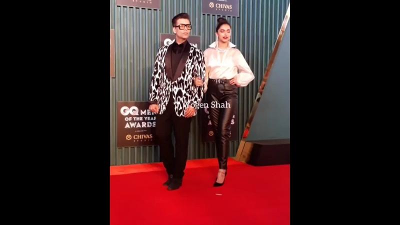 Дипика и Каран Джохар на GQ Awards
