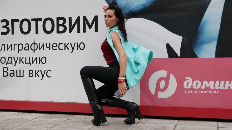 Kristina's platform high heels Gianmarco Lorenzi black leather boots Size EU 38 US 7,5