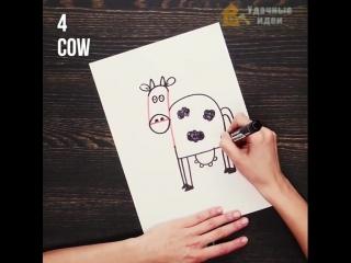 Творим с детьми рисунки из цифр