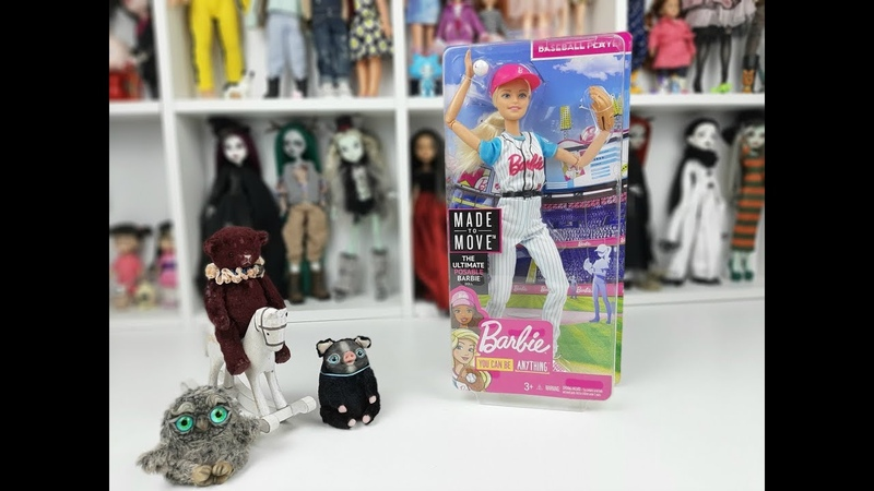 РАСПАКОВКА кукла БАРБИ Двигайся как я БЕЙСБОЛИСТКА / ОБЗОР Barbie Made to Move Baseball Player