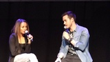 Chris Wood &amp Kat Graham at Bloodynightcon Brussels may 2015 doing imitations