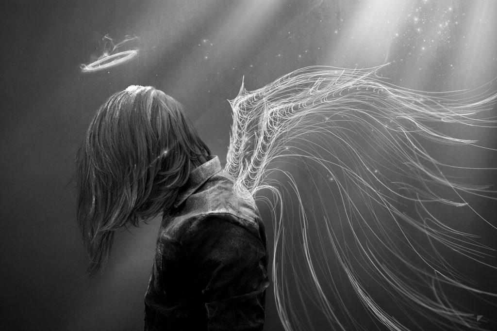 эта грустные картинки ангелы на аву благодаря