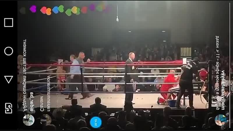 Мейрим Нурсултанов нокаутировал мексиканца Рамона Агинагу