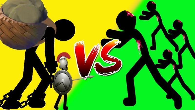 Stick War 2 - (Insane) Spearton Giant Boss VS Zombie