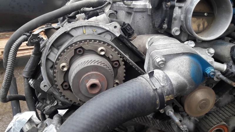 Перескочил ремень грм на контрактном двигателе 1UZ