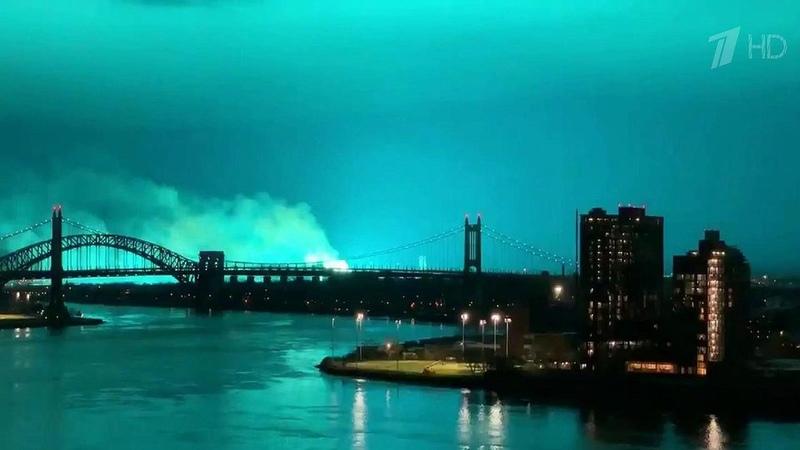 ВНью-Йорке взорвался трансформатор наодной изэлектроподстанций. Новости. Первый канал