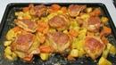 Вкусный Ужин одной левой. Выпуск 2 - Курица с Картошкой и Тыквой. Chicken with potatoes and pumpkin.