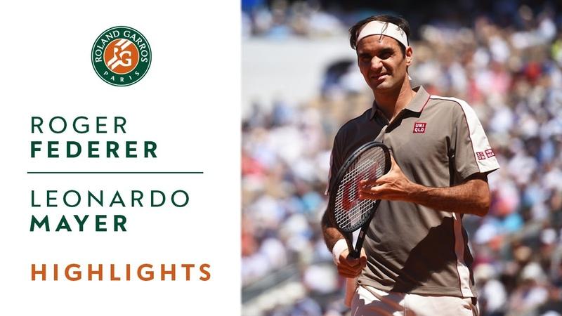 Roger Federer vs Leonardo Mayer - Round 4 Highlights | Roland Garros 2019
