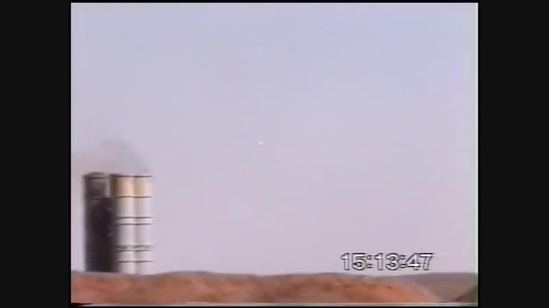 ЗРДН С-300ПС на полигоне Ашулук во время стрельб по мишеням.