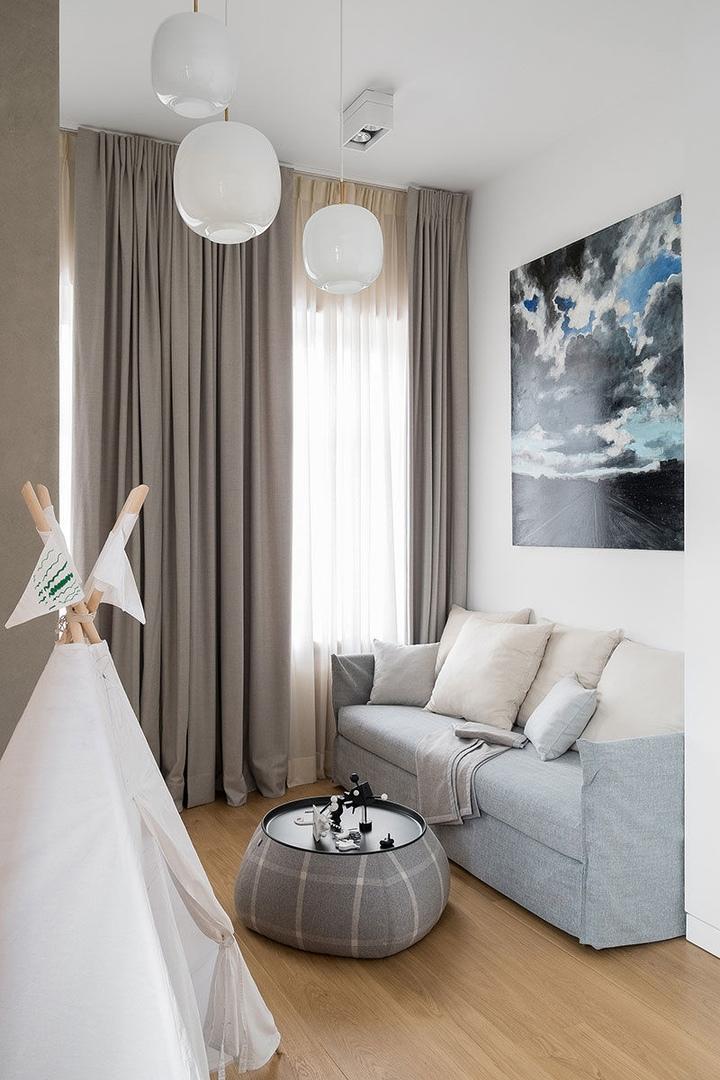 Светлая квартира со сводчатыми потолками в Москве