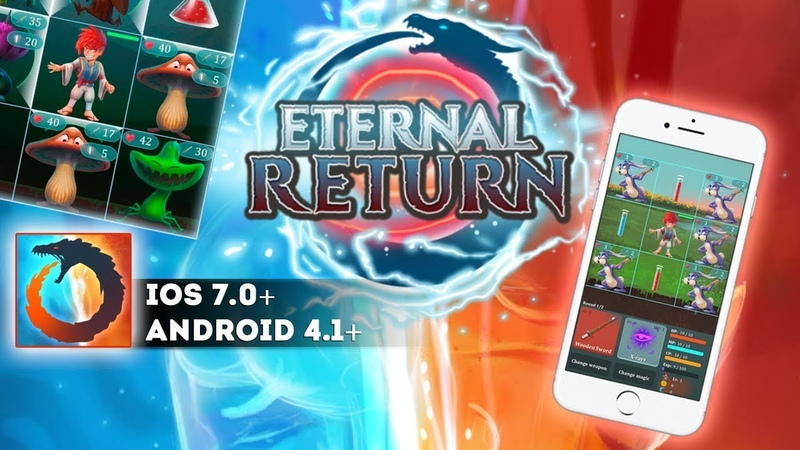Eternal Return - Gameplay iOS. Collect gems and coins to get powerful weapons and improve your magic