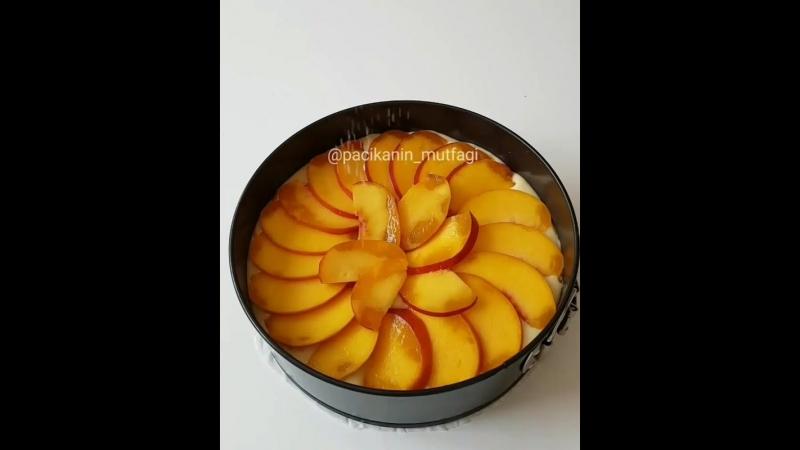 Персиковый пирог😋👌🏻