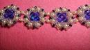 Нарядный браслет из бисера. Fancy bead bracelet часть1