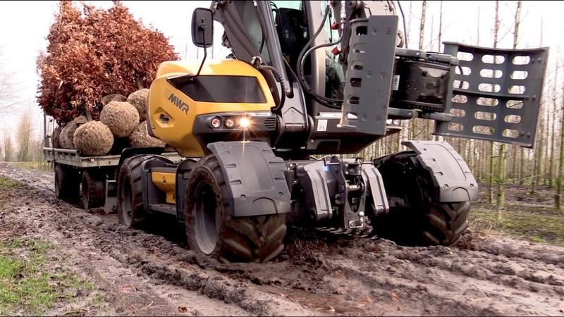 Mecalac 9MWR - Terreinvaardig in de bomenkwekerij