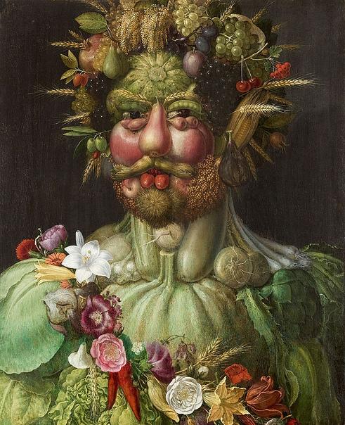 15 малоизвестных фактов об удивительных портретах Джузеппе Арчимбольдо Художник шестнадцатого века Джузеппе Арчимбольдо пошел по стопам своего отца, Бьяджо, который занимался созданием витражей