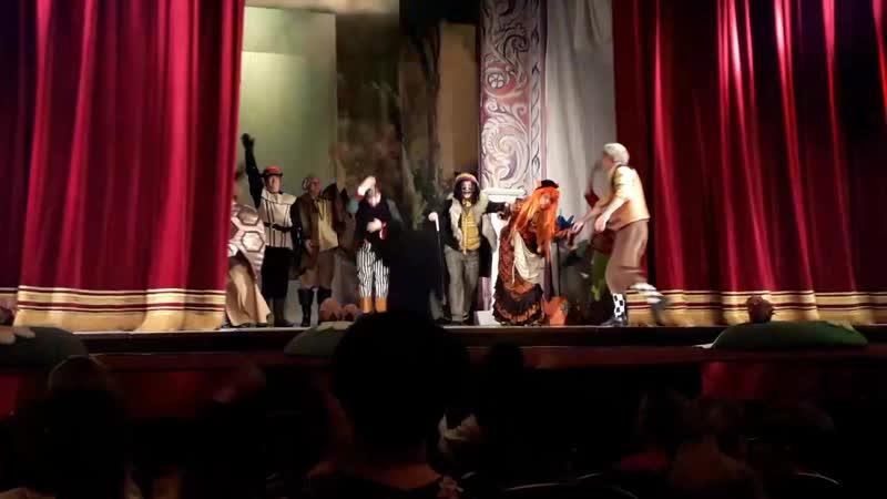 Поклон спектакля Буратино Сызранский драматический театр 100 лет