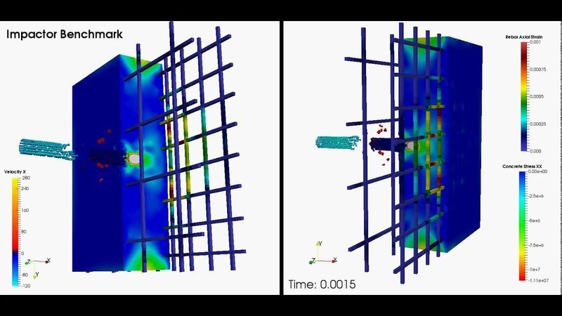 MSC Nastran Explicit Nonlinear - Ballistic Concrete with Rebars