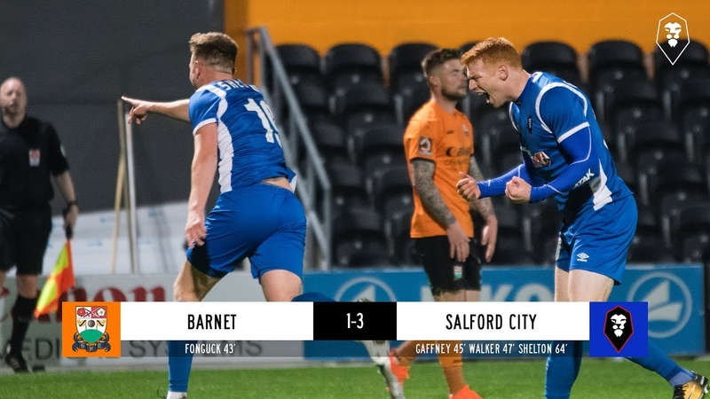 Barnet 1-3 Salford City - The National League 30/10/18