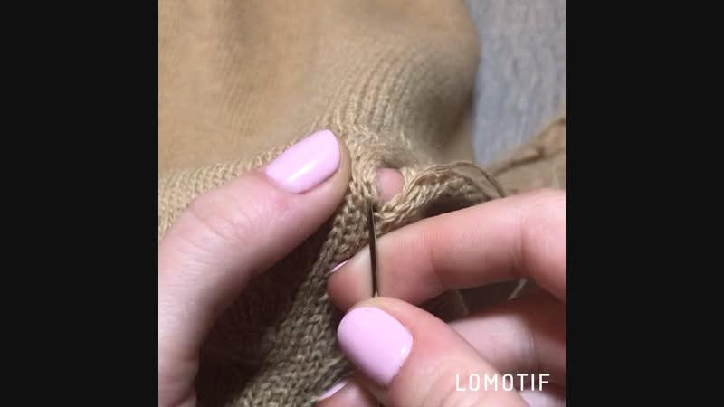 Красивое сшивание реглана