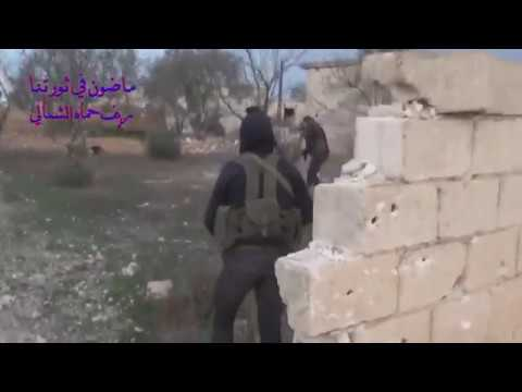 Battle for Syria rebels in attack of the hama idlib province January 2018