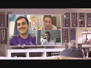 Casillas, Torres y Villa con Pepe Reina