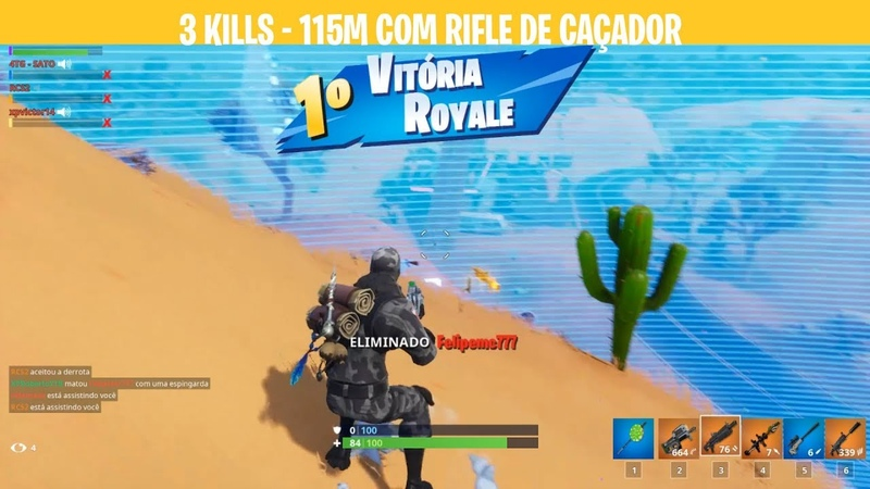 VITORIA SQUAD - 3 KILLS - 115M COM RIFLE CAÇADOR