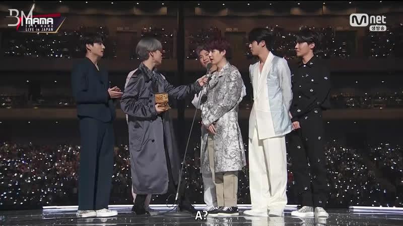 RUS SUB 12 12 18 BTS IDOL Favorite Music Video Award @ 2018 MAMA Fans Choice in Japan