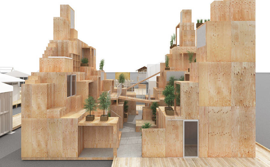 Maquette of a Rental Space Tower by Sou Fujimoto