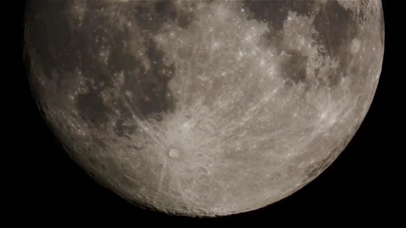 НЛО на фоне луны - телескоп 4 - 2018