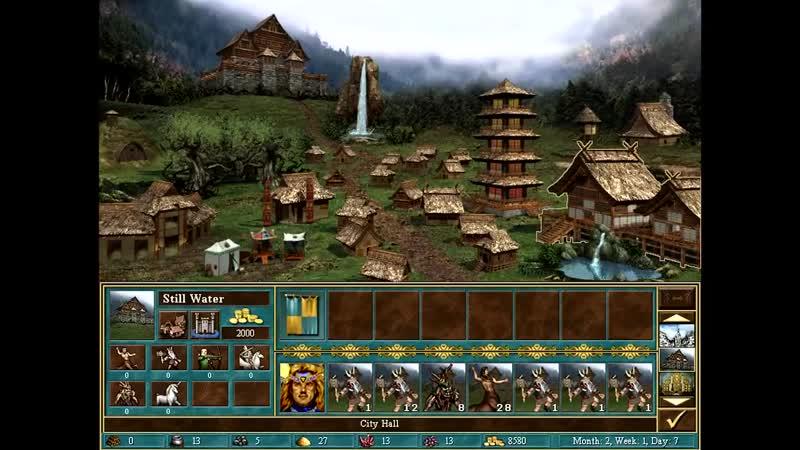 Герои III 1 против 7 в Команде Большая карта Сложность 200% Темница 3