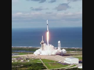 "Spacex: ""liftoff of falcon 9 from historic launch complex 39a at kennedy space center in florida"