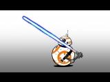 Звёздные Войны Моменты - BB8 и световой меч
