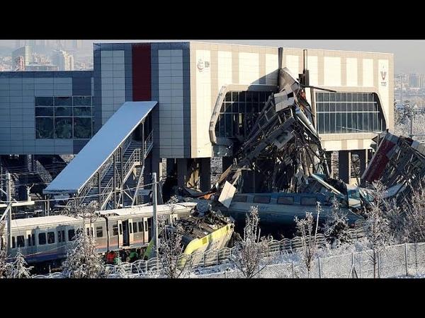Крушение поезда под Анкарой: есть погибшие