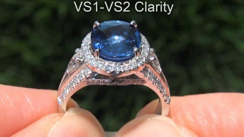 Natural Blue Sapphire Diamond Ring
