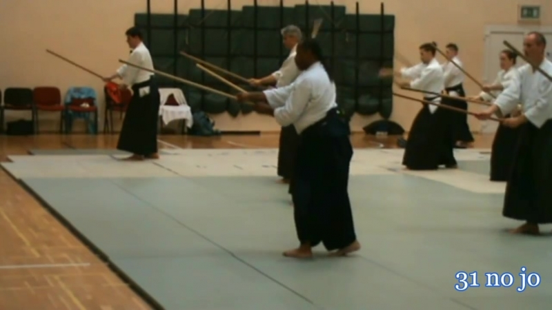Donovan Waite 7th dan Aikikai Shihan in Sopron Jo Kata 9 13 31 Kaeshi uchi