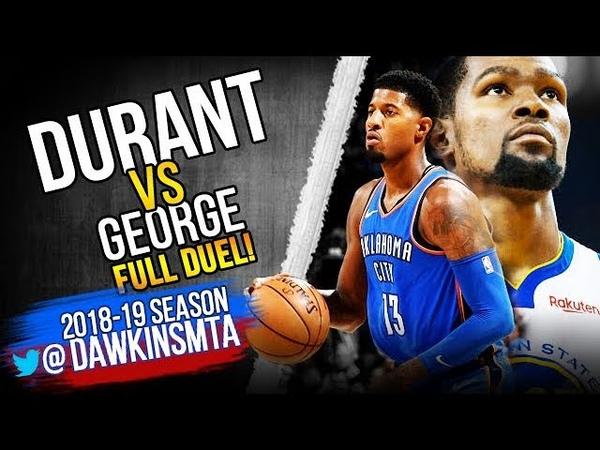 Kevin Durant vs Paul George Full Duel 2018.10.16 - 27 Pts EACH! | FreeDawkins