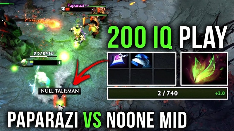 Best Solo Mid Paparazi vs Noone EPIC 200IQ Next Level Survive Play by Noone Zeus Dota 2