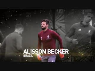 🇧🇷 brazilian goalkeeper @alissonbecker is 25th in the final ranking of the 2018 ballon dor #ballondor