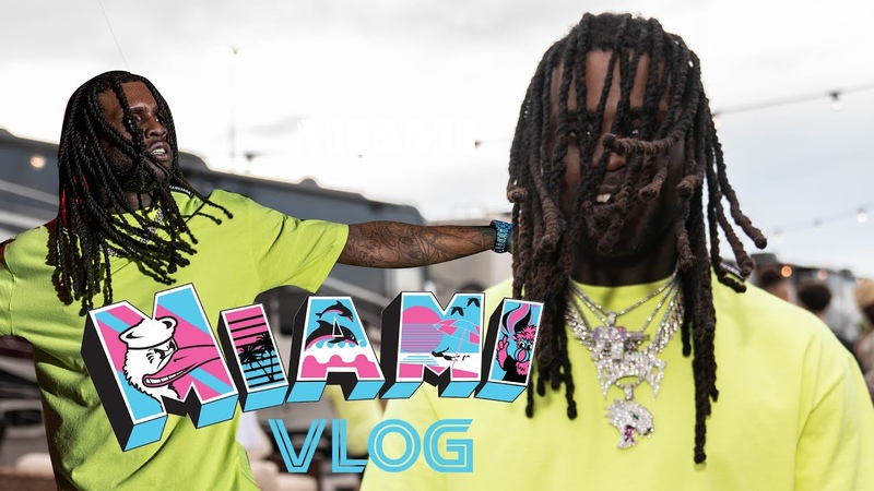 Chief Keef the Gang in Miami Rolling Loud Vlog shot by ig @colourfulmula