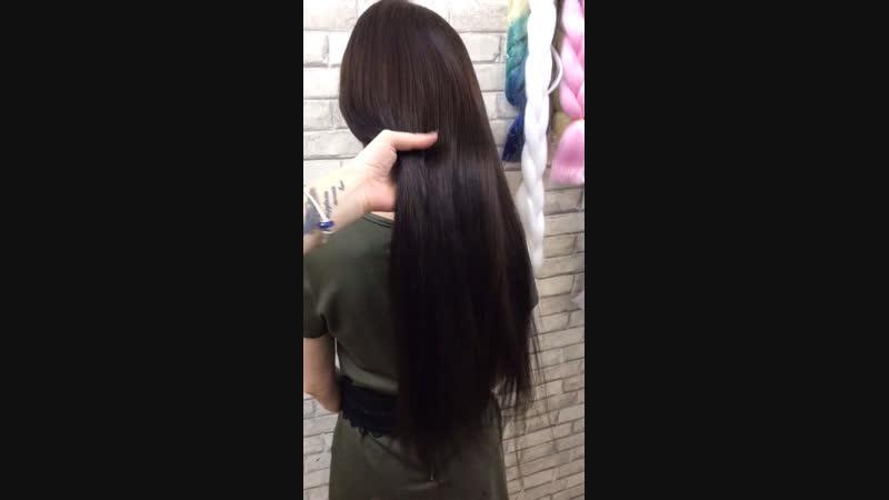 Наращивание волос double drawn