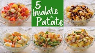 5 IDEE per INSALATA FREDDA DI PATATE Ricetta Facile - 5 Easy Potato Salad Recipes