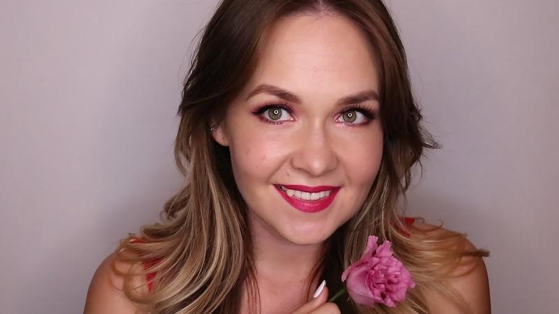 Girly pinky make up. Huda Beauty Rose Gold Palette Remastered.