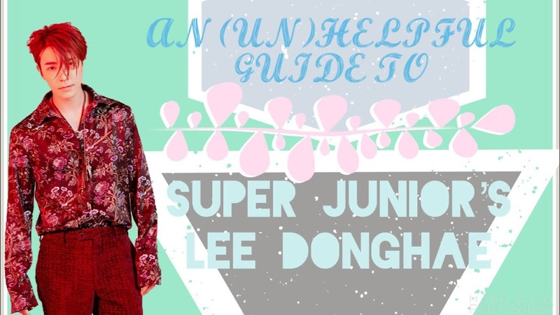 An (Un)Helpful Guide to Super Junior's Lee Donghae