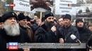 Мы за каноническую церковь с блаженным Онуфрием: верующие пикетируют суд в Виннице