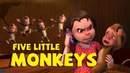 Five Little Monkeys Jumping On The Bed Nursery Rhymes for Children