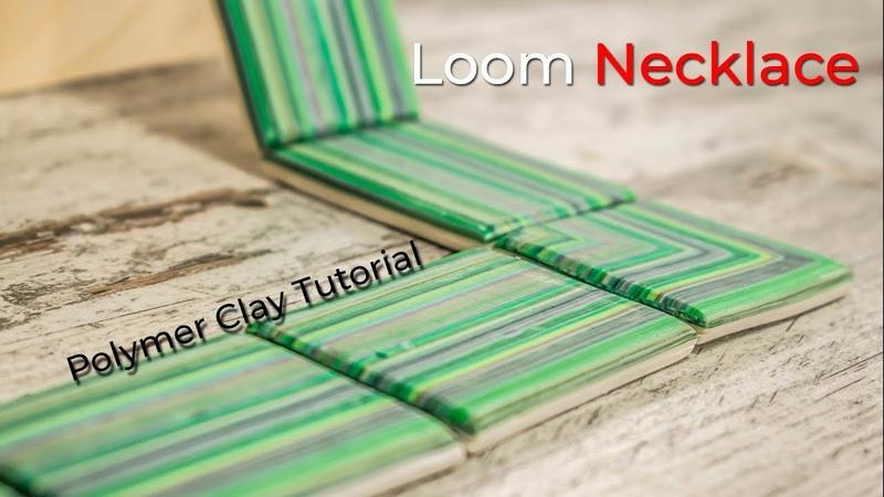 Loom Necklace - Collar cuadrado - Tutorial de arcilla polimérica - Proceso completo