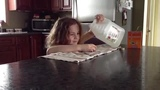Girl fails at Baking Soda and Vinegar Volcano