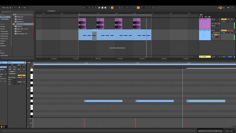 Psy trance bassline tutorial with SERUM