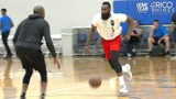 James Harden, Jordan Bell, Kevon Looney, Bobby Brown &amp Rob Edwards WORKOUT With Rico Hines